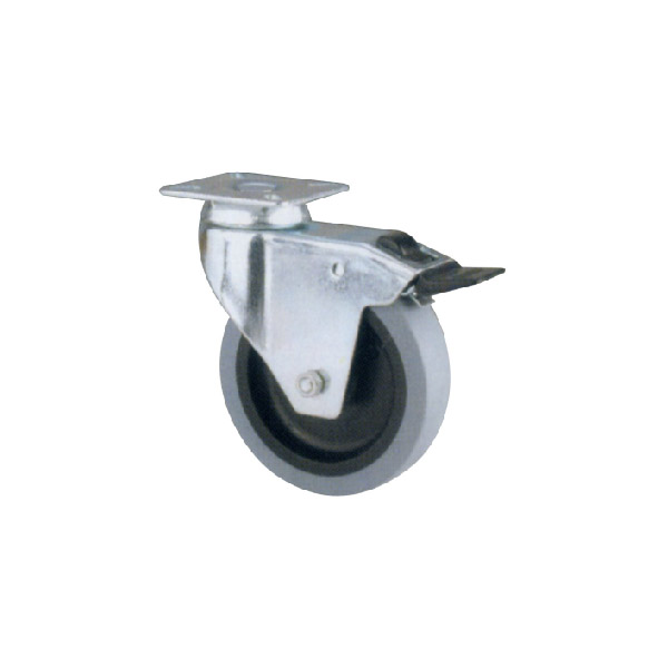 Industrial Caster With Swivel Plate (114118)