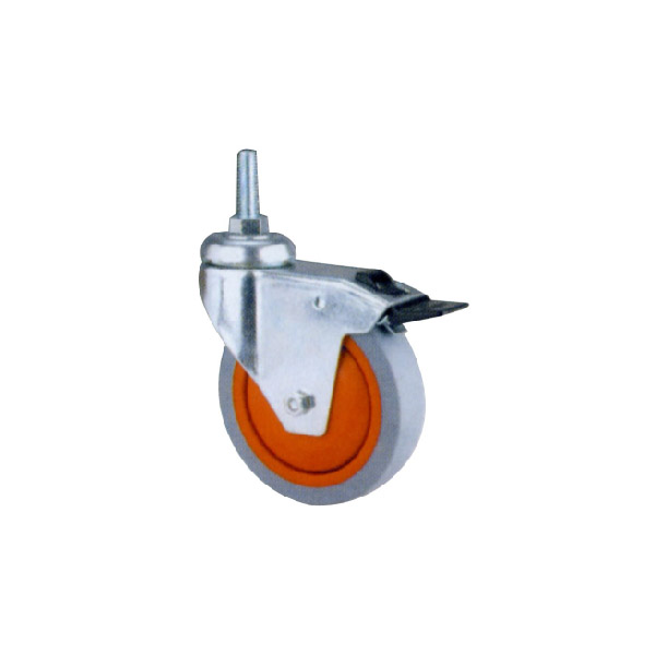 Industrial Caster with Threaded Stem, Ball Bearing (114122)