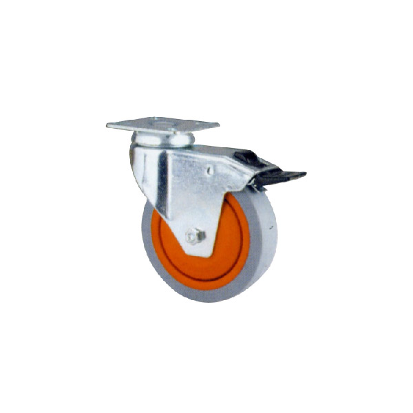 Industrial Caster With Swivel Plate, Ball Bearing (114124)